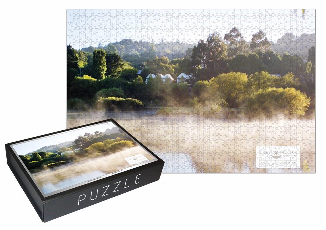 df1b492b4869 Lake House Across The Misty Lake Jigsaw Puzzle - Lake House